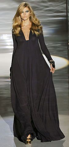 Gucci jersey dress; I need this dress- LOVE the neckline! Also looks like a super comfy maxi - dress up with a great headchain and heels, or wear with a cute scarf and flats during the day.