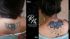 COVER UP TATTOOS BEFORE AND AFTER  #RockingNeedles #Artwork #CoverupTattooIdea  Tattoo by : Jigar Panchal  Rocking Needles Tattoo and Piercing Studio. Follow us @ Rocking Needles / Pinterest Rockingneedles94 / Instagram Rocking Needles / YouTube  Contact us @ 9167956523 / 9167957920 Email : rockingneedles94@gmail.com