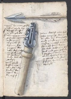 A selfspanning crossbow in the Loeffelholz MS | Crossbow ...