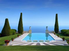 "Cannes, Provence-Alpes-Cote D'Azur, France. Magnificent Château de La Croix des Gardes listed by Côte d'Azur Sotheby's International Realty.  This residence was also featured in Alfred Hitchcock's masterpiece ""To Catch a Thief"" with Grace Kelly and Cary Grant."