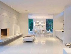Decoración de interiores en blanco. Cómo decorar un salón blanco elegante, fotos e ideas. | Mil Ideas de Decoración