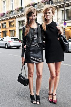 Basic mini black dress