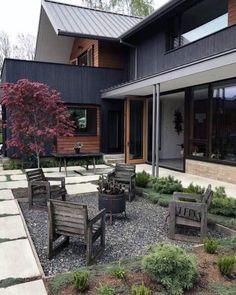 Top 50 Best Patio Firepit Ideas - Glowing Outdoor Space Designs Fire Pit Landscaping, Fire Pit Backyard, Landscaping Ideas, Backyard Layout, Backyard Seating, Patio Design, Exterior Design, Backyard Designs, Backyard Ideas