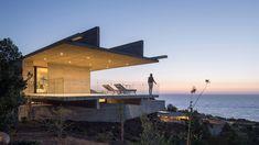 Felipe Assadi's linear H House stretches along the Chilean coast