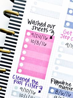 DIY Cleaning Chart in The Happy Planner of mambi Design Team member Heather Kell me my BIG ideas Deep Cleaning Tips, House Cleaning Tips, Diy Cleaning Products, Spring Cleaning, Cleaning Hacks, Diy Hacks, Car Products, Planner Stickers, Printable Planner