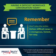 Having a difficult conversation in your workplace today? Here are some…