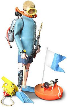 Action Man scuba diver