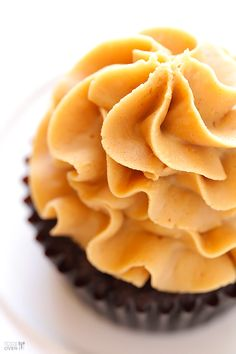Chocolate Peanut Butter Cupcakes Recipe (stuffed with mini Reese's peanut butter cups!) | gimmesomeoven.com