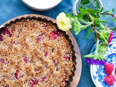 Altså ikke både lavkarbo og lavt kalori, men to forskjellige oppskrifter på crumble pie. Etter de...
