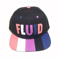 452c36b7b90b7 Genderfluid Pride Transgender LGBTQ Hand Painted Snapback Hat Pride Outfit