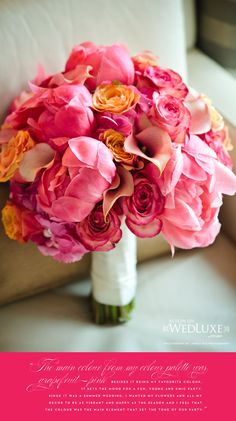 AMAZING bouquet--wish peonies were in season when I was getting married :(