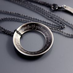 "Thoreau Open Circle Necklace by Lisa Hopkins Design: ""Go confidently in the direction of your dreams - live the life you have imagined."""