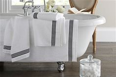 The Collection White Border Towels