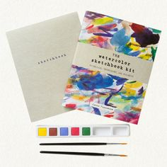 Like Kelly from DesignCrush, I too have zero artistic talent. This sketchbook kit makes me wish I did. So beautiful.