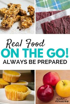 Resist the temptation to compromise on food just because you're rushing around or otherwise away from home when you're hungry. These real food ideas are great for those time when you know you'll be on the go. #mealplanning