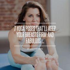 7 #posturas de yoga que mantén tus pechos firmes y fabulosas...