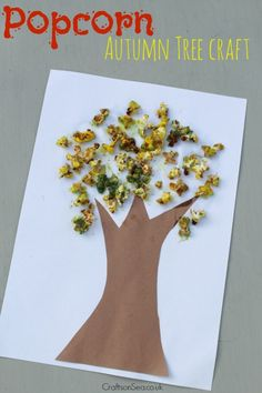 This cute autumn tree craft is a great way to introduce the change in seasons with a craft material that's fun for kids to play with.