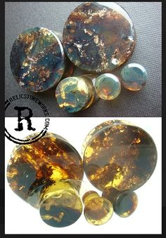 Green Amber Plugs - Relic Stoneworks WANT!!!!!!!!!