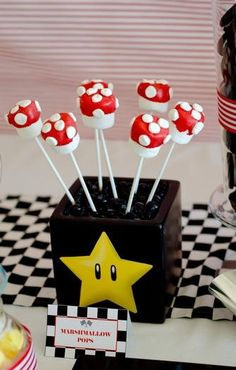 marshmallow pops for super mario party