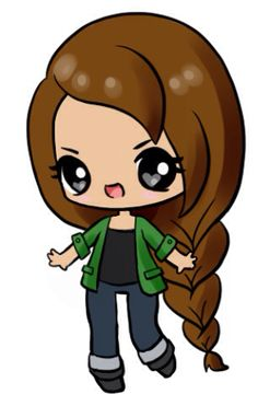 OMG! I found a kawaii chibi maker online! :o I made this Katniss Everdeen inspired chibi! #hungergames #kawaii