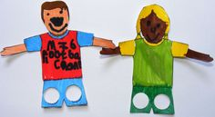Soccer player finger puppets ready for a match! Just need heavy paper, coloring pencils or crayons, and scissors! Plus the outline - also on this board!