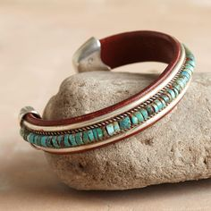 TURQUOISE SPECTRUM CUFF -- Charlie Favour shares his love of Native American design and craftsmanship.