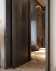 La Ligne - double wood veneer doors by Marcel Wolterinck for Bod\u0027or & minimalist door design | Door/1 | Pinterest | Door design ...