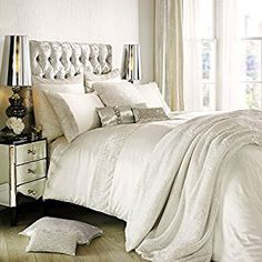 Amazon.com: ASTOR Bedding Ranges by Kylie Minogue (Oyster, Double Duvet Cover) by Kylie Minogue: Home & Kitchen