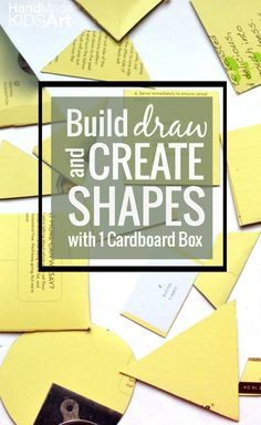How to use 1 cardboard box for 3 preschool activities to learn about shapes.