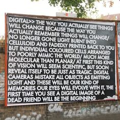 Robert Montgomery - digital The way you actually see things