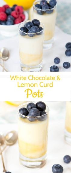 These pots of creamy, white chocolate deliciousness are so quick and easy to make. A spoonful of lemon curd at the bottom of each pot adds a citrus zing. Ideal for and impressive for a weeknight dinner party - needing 5 minutes hands on time the day before.