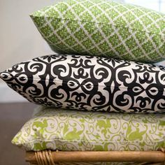 16 x 16 Pillow Cover-Love the green on top.