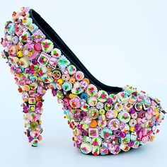 These pumps embellished with every confectionery known to man.