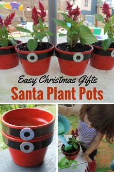 Get the children out into the garden to create a very special hands on Christmas gift for parents and special family members. Gifts for parents Easy Christmas Gift for Children to paint, plant and give. Christmas Presents For Girls, Christmas Gift Baskets, Christmas Crafts For Gifts, Gifts For Kids, Christmas Gift Plants, Holiday Gifts, Preschool Christmas, Christmas Activities, Simple Christmas