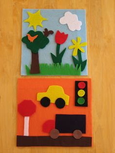 Traveling Felt Boards.Perfect for Spring Break trips in the car!-Rachel