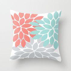aqua coral cushions - Google Search