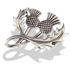 Solid Silver Scottish Thistle Brooch,Celtic Silver Jewellery.