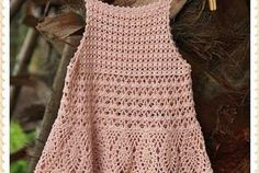 Vestido crochê infantil para verão