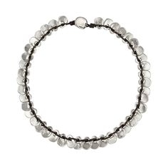 Knotted Leather Necklace with silver plated beadswarovski stone
