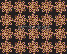 Black Dotty created by Ivana Kralova offered as a vector file on patterndesigns.com Floral Artwork, Vector Pattern, Vector File, Surface Design, Black Backgrounds, Gothic, Patterns, Inspiration, Art Floral