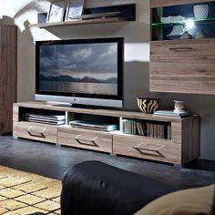 Fancy TV Lowboard in Eiche San Remo LED Beleuchtung Jetzt bestellen unter https