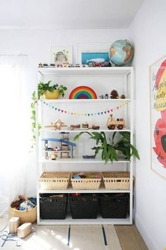 kids room design white kids room with bookshelf and plants