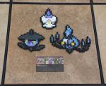 Litwick Family - Pokemon Perler Bead Sprites by MaddogsCreations