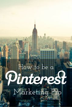 Facebook and Twitter are great ways to promote your website but the world of Pinterest is a spectacular, visual social media network for you to be discovered by potential clients. So, if you have yet to catch onto the Pinterest craze or aren't sure how to become a Pinterest marketing pro, here's how....