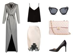 Classy by ma-ri-i on Polyvore featuring мода, Raey, Balmain, Helmut Lang, MANGO, Chanel and Prada