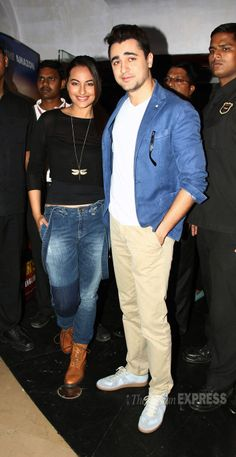 Imran Khan, Sonakshi Sinha at the 'Rio 2' trailer launch. #Style #Bollywood #Fashion #Beauty