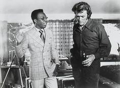 James McEachin and Clint Eastwood in Play Misty For Me directed by Clint Eastwood, 1971. Photo by Henry Fox