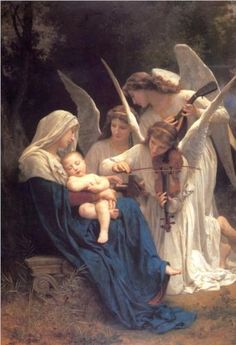 Song of the Angels - William-Adolphe Bouguereau  * * This is one if my favorite paintings! ~ Lee Ann H