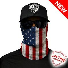 German American Flag Microfiber Neck Warmer Balaclavas Soft Fleece Headwear Face Scarf Mask For Winter