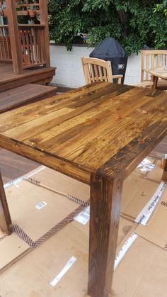 Pallet Dining Table. First Diy Project